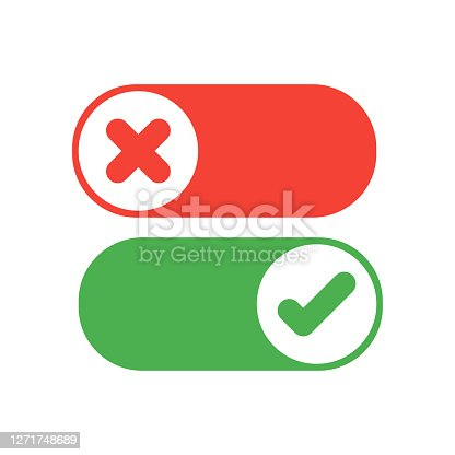 istock Switch icon. Flat switcher icon. Flat switcher for mobile app design. Touch control button. Toggle sign. Vector icon. 1271748689