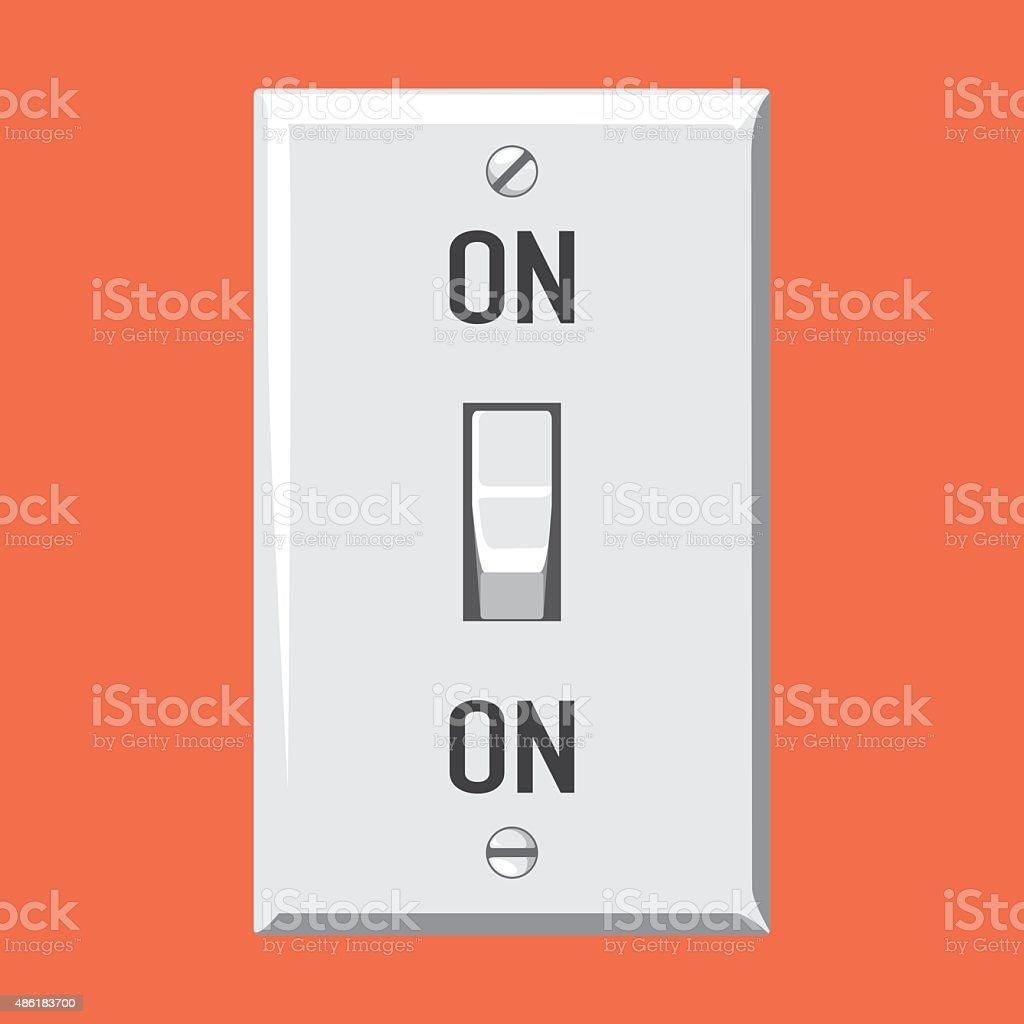 Switch On vector art illustration