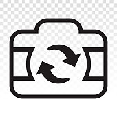 istock switch or turning camera - Flat icon for apps or website 1238552441