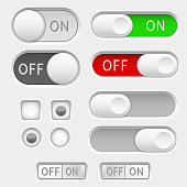Switch slider buttons. Radio buttons