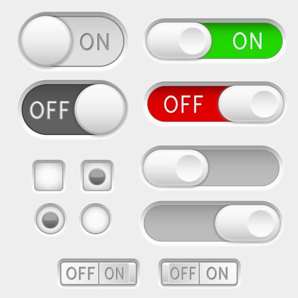 切換滑塊按鈕。選項按鈕向量藝術插圖