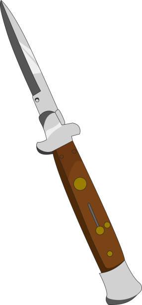 switchblade knife switchblade knife vectorel switchblade stock illustrations