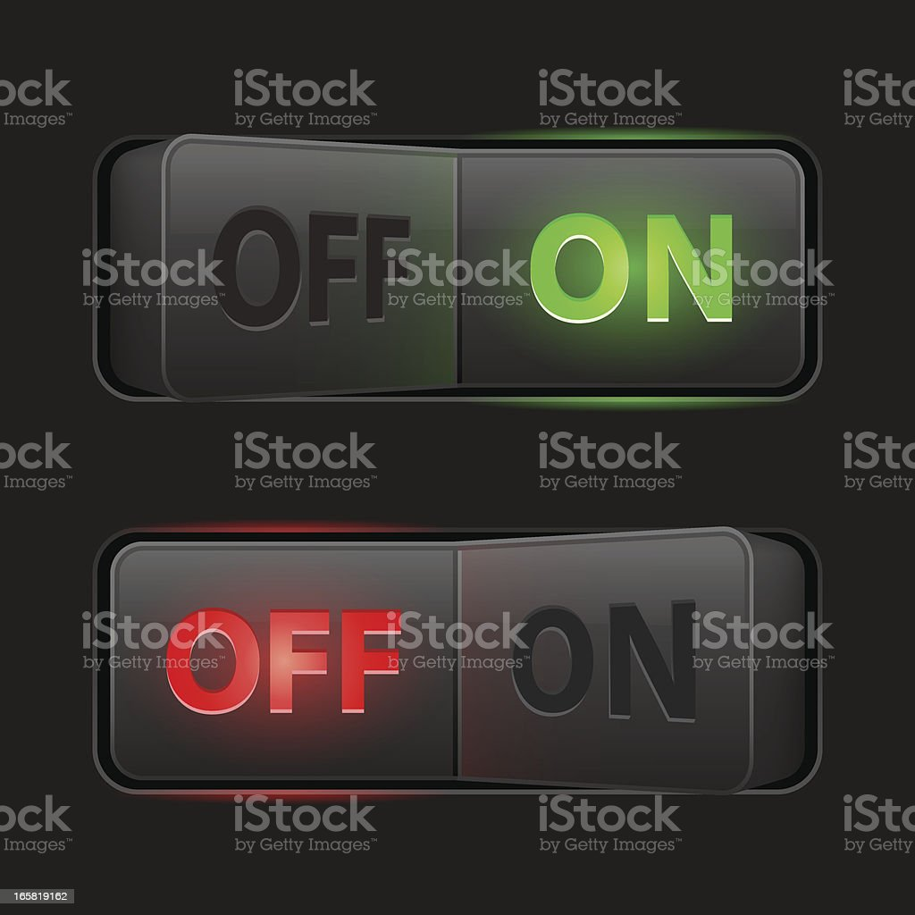 Switches dark (On Off) royalty-free stock vector art