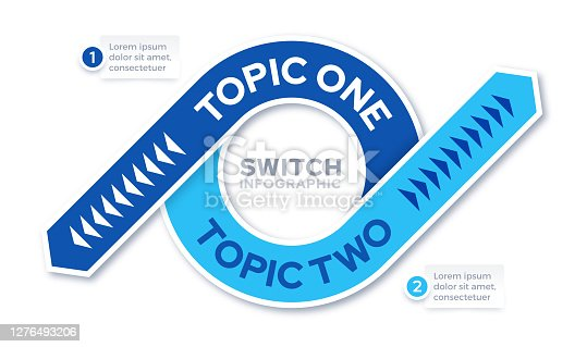 istock Switching Swap Reverse Two Topic Infographic Template 1276493206