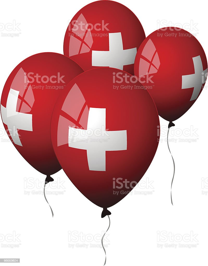 Switzerland - Balloons royalty-free switzerland balloons stock vector art & more images of balloon