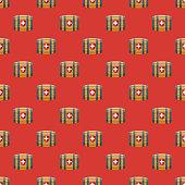 Switzerland Brandy Barrel Seamless Pattern