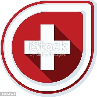 istock Switzerland button illustration 865505678
