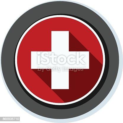 istock Switzerland button illustration 865505710