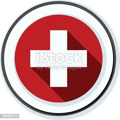 istock Switzerland button illustration 865505724