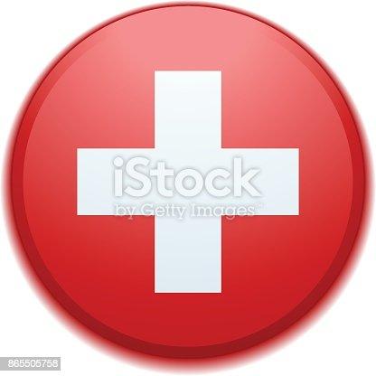 istock Switzerland button illustration 865505758
