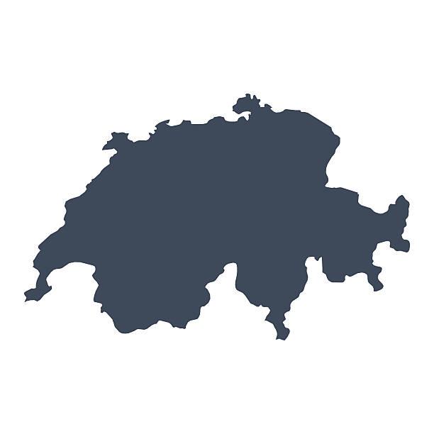 швейцария country map - швейцария stock illustrations