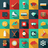 Switzerland Flat Design Icon Set
