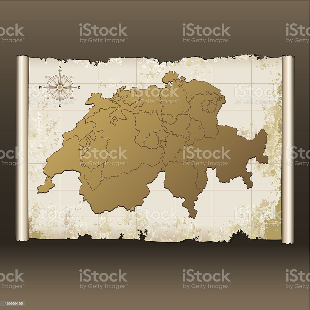 Switzerland grunge map royalty-free switzerland grunge map stock vector art & more images of ancient