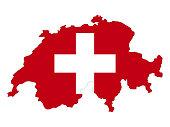 istock Switzerland map and flag 1289444305