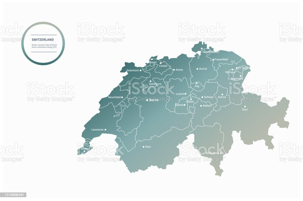 Picture of: Switzerland Map Switzerland Vector Map In Europe Stock Illustration Download Image Now Istock