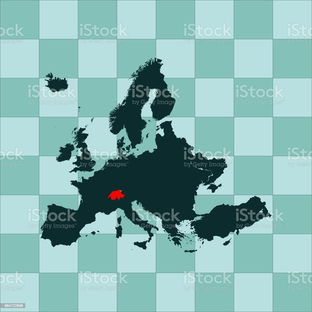 Switzerland map royalty-free switzerland map stock vector art & more images of cartography