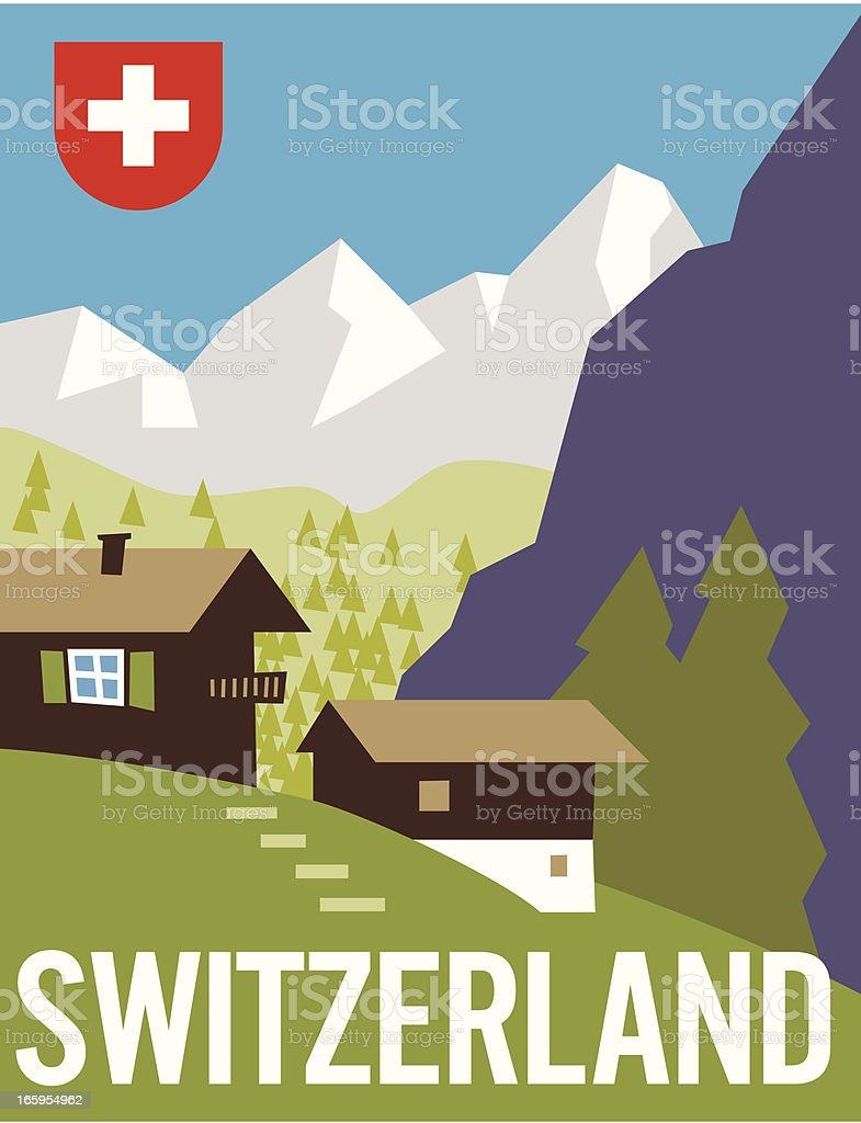 Switzerland Poster royalty-free stock vector art