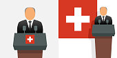 Switzerland president and flag