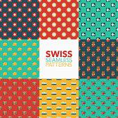 Switzerland Seamless Pattern Set