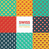 Switzerland Seamless Pattern Set