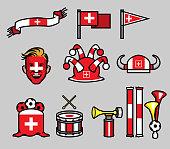 Switzerland Soccer Supporter Gear Set