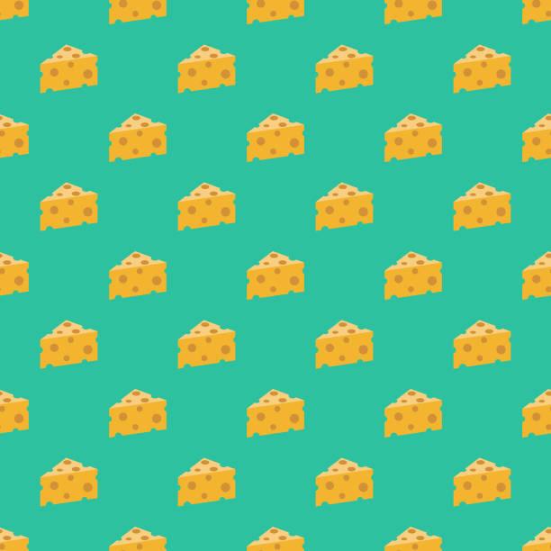 ilustrações de stock, clip art, desenhos animados e ícones de switzerland swiss cheese seamless pattern - queijo