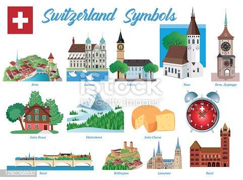istock Switzerland Symbols 1292268532