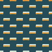 Switzerland Train Seamless Pattern