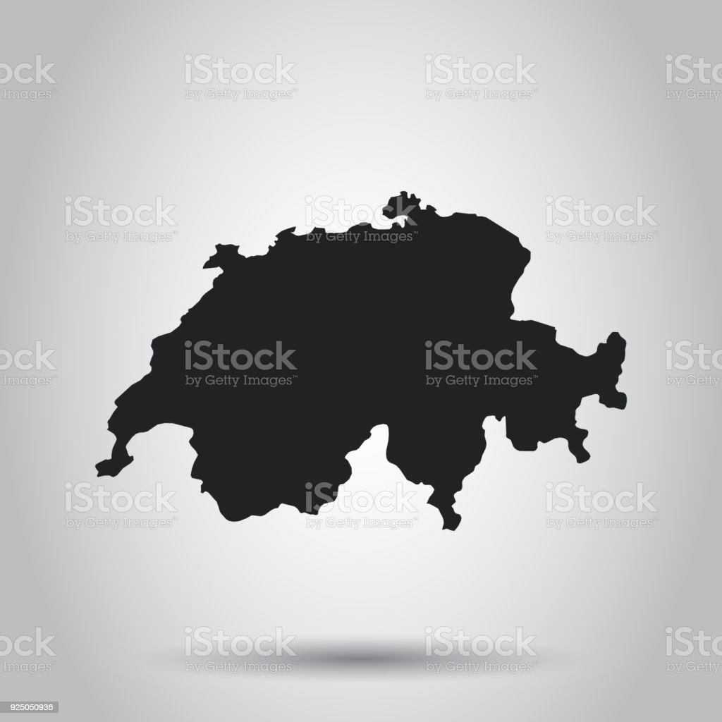 Switzerland vector map black icon on white background stock vector switzerland vector map black icon on white background royalty free switzerland vector map gumiabroncs Images
