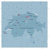 Switzerland Vector Road Map
