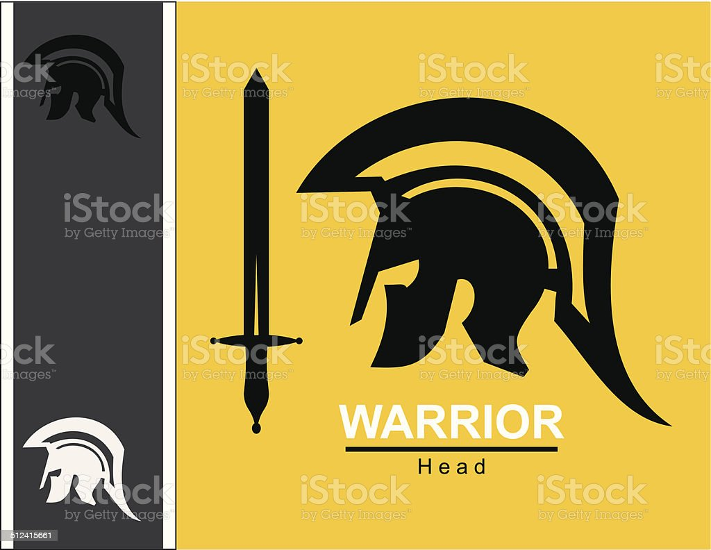 sword and centurion vector art illustration