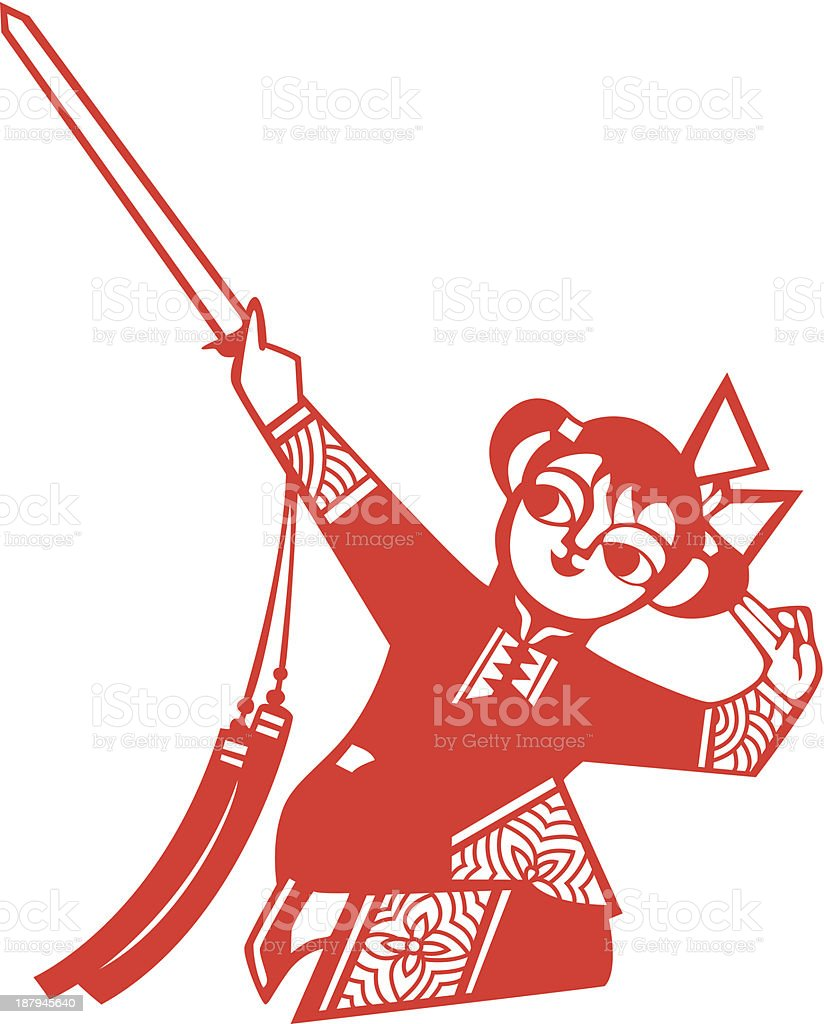 Sword dancing royalty-free stock vector art