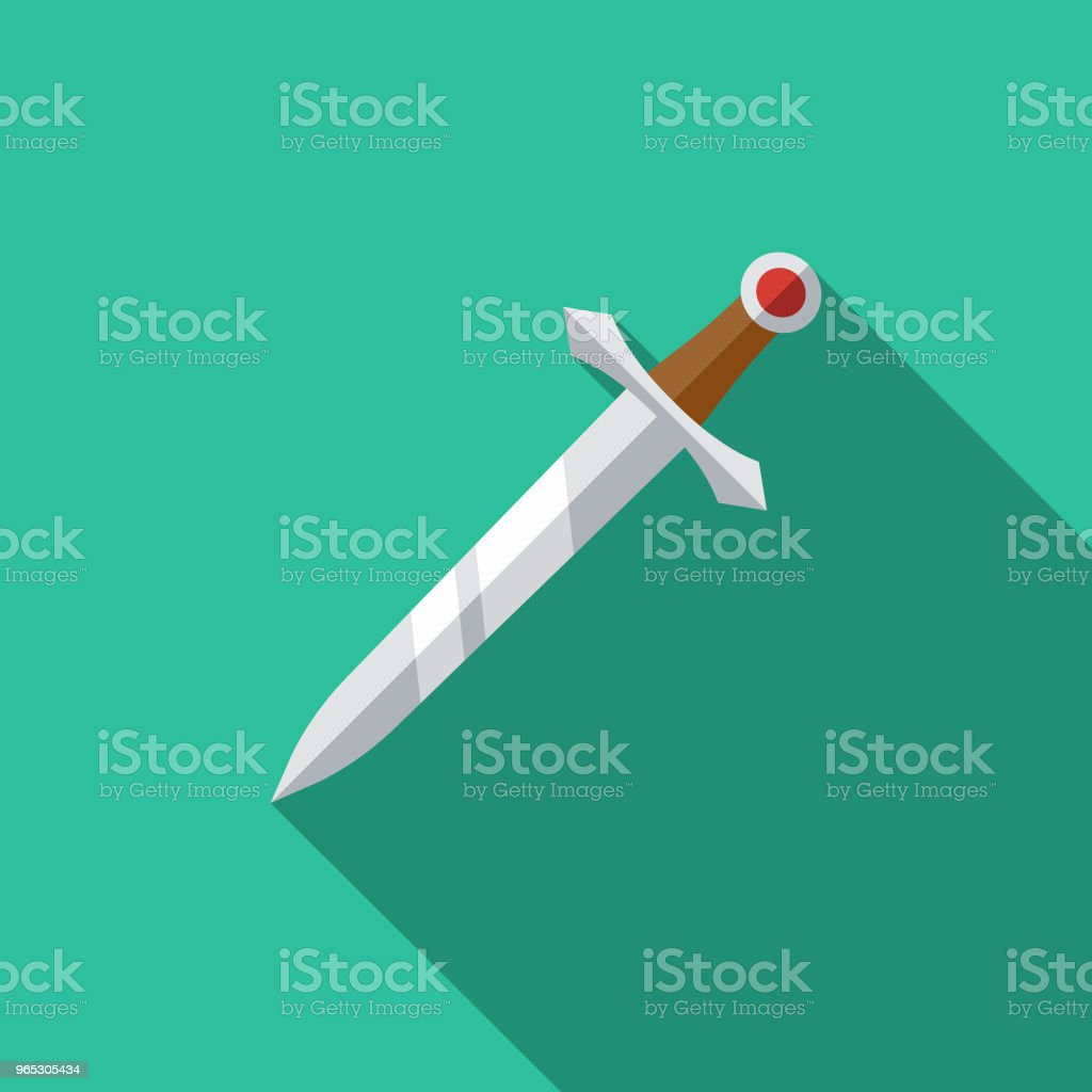 Sword Flat Design Fantasy Icon royalty-free sword flat design fantasy icon stock vector art & more images of adventure