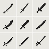 sword icon great for any use. Vector EPS10.