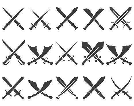 Sword icon set