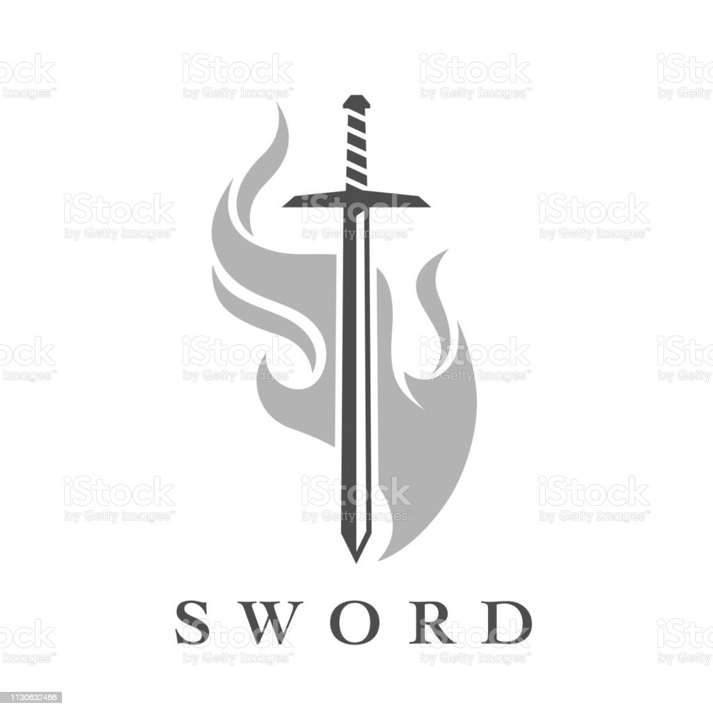 Sword Icon With Flame Emblem Template Stock Illustration Download Image Now Istock Sword and shield icons set. sword icon with flame emblem template stock illustration download image now istock