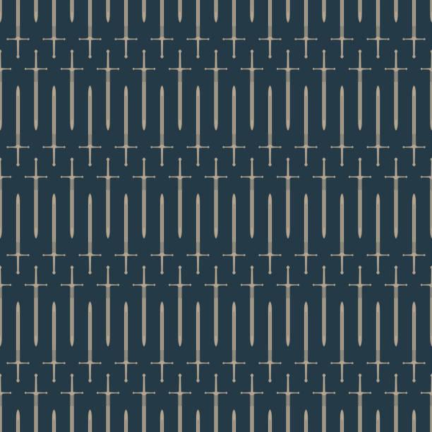 칼 원활한 패턴 - sword stock illustrations