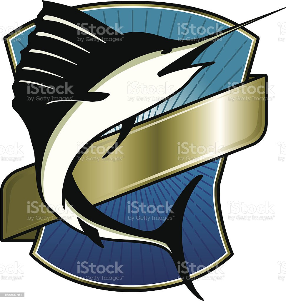 swordfish gold label royalty-free swordfish gold label stock vector art & more images of animal