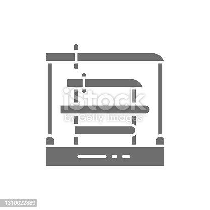 istock Swords rack, samurai swords, katana grey icon. 1310022389