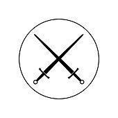 swords vector icon