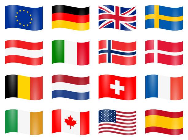 swung country flags – Vektorgrafik