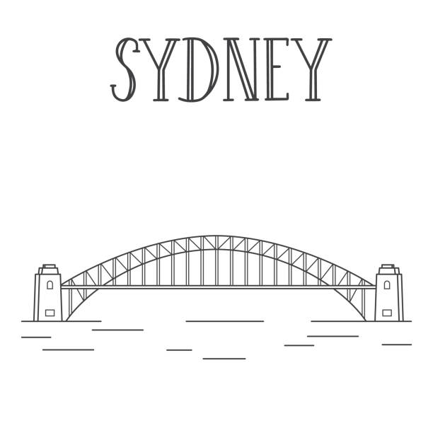 Best Sydney Harbor Bridge Illustrations, Royalty-Free