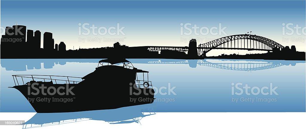 Sydney Harbour Australia vector art illustration