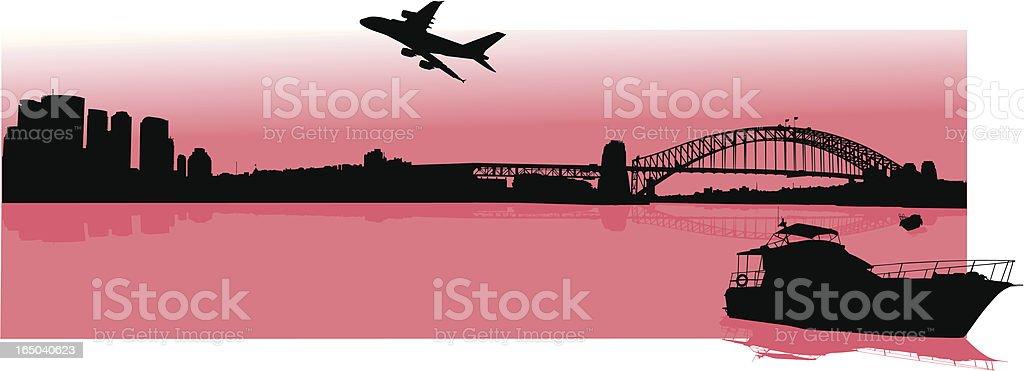 Sydney Harbour I vector art illustration