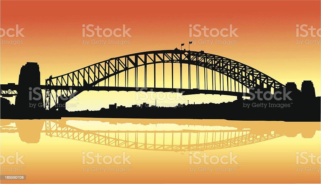 Sydney Harbour vector art illustration