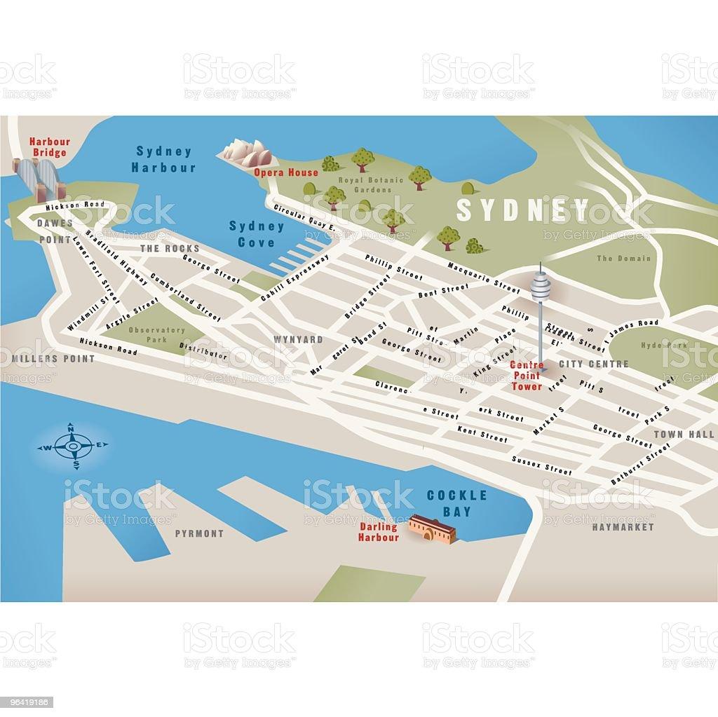 Sydney, NSW, Australia Map royalty-free stock vector art