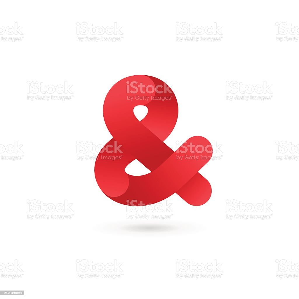 Symbol & and ampersand icon design template elements vector art illustration