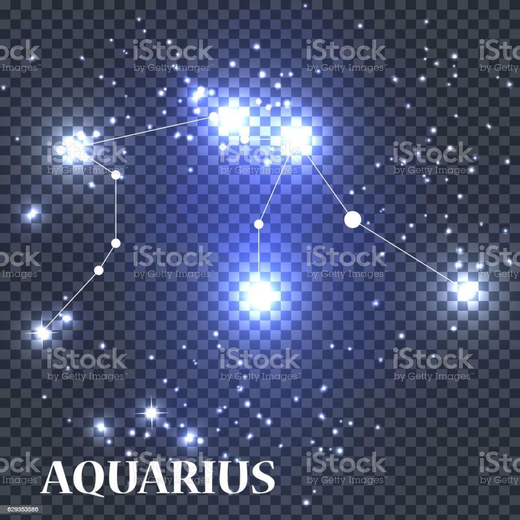 Symbol Aquarius Zodiac Sign Vector Illustration Stock Vector Art