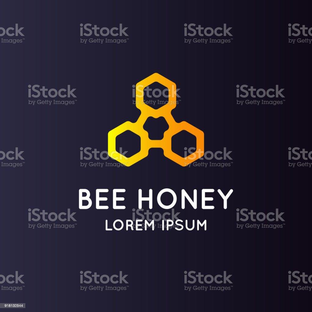 symbol bee honey. Stylish and modern sign for products apiculture vector art illustration