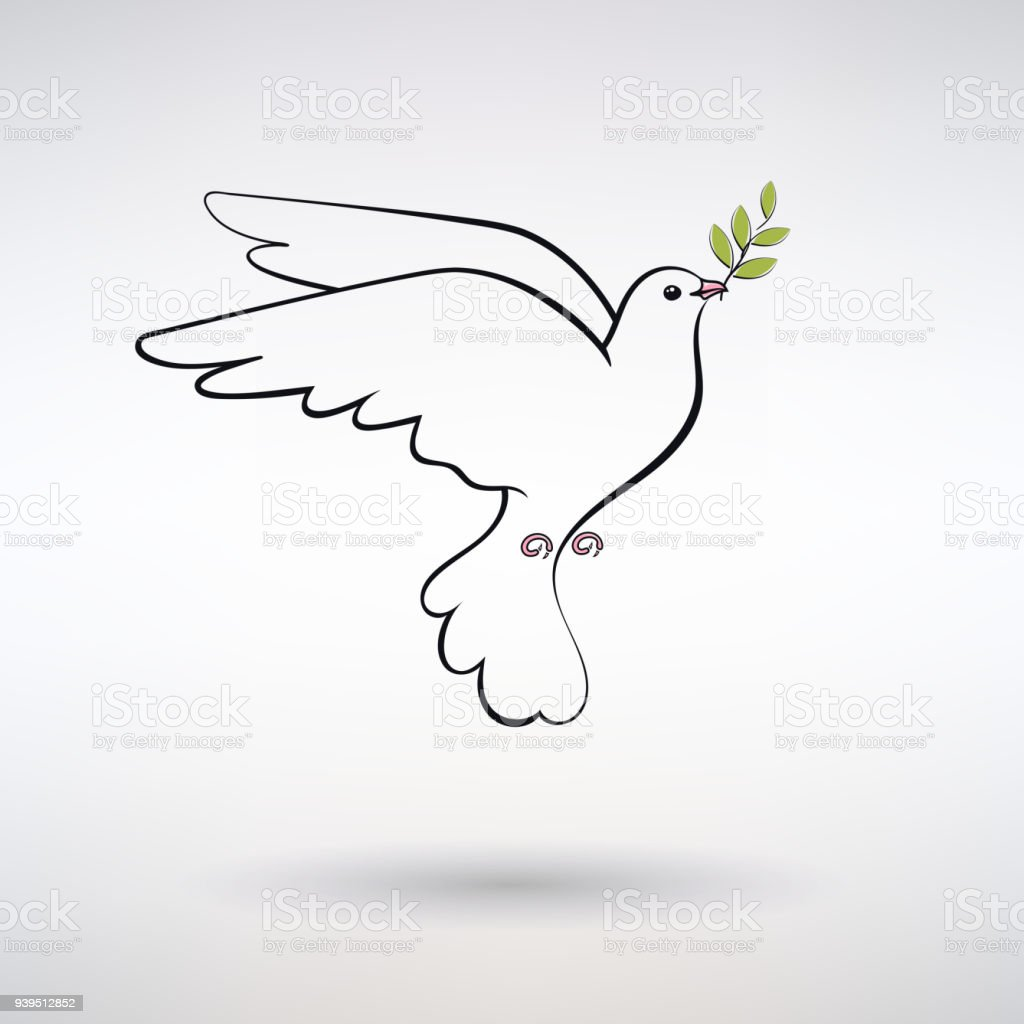 Symbol Dove Of Peace Stock Vector Art More Images Of Abstract